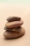 Japanese zen stone garden on sand Royalty Free Stock Images