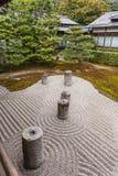Japanese zen stone pebble garden Stock Photos