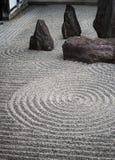 Japanese zen stone pebble garden Royalty Free Stock Photo