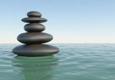 Japanese Zen stones Stock Images