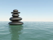 Japanese Zen stones Royalty Free Stock Image