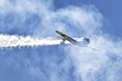 Japanese Zero making bombing run Stock Image