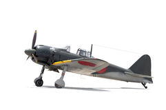 Japanese Zero, WWII fighter. Japanese Zero fighter aircraft, WWII royalty free stock photography