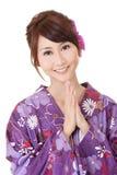 japaneses προσευμένος γυναίκα Στοκ Εικόνα
