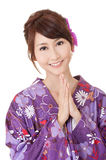 Japaneses woman praying Stock Image