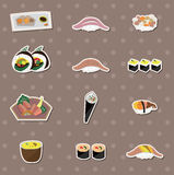 Japaness food stickers Royalty Free Stock Photography