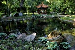 Japanisch-?hnlicher Garten im k?niglichen Lazienki-Park lizenzfreie stockfotografie