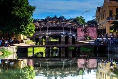Japanische überdachte Brücke Hoian, Quangnam, Vietnam Lizenzfreies Stockfoto
