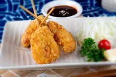 Japanische Aufsteckspindel frittierter Satz stockbild