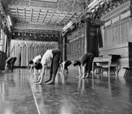 Japanische Balletttänzer üben Leistung in einem aciant Tempel in Japan Stockfotos