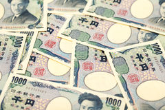 Japanische Banknote 1000 Yen Lizenzfreie Stockbilder