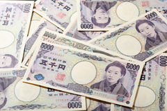 Japanische Banknote 10000 Yen und 5000 Yen Lizenzfreie Stockfotos