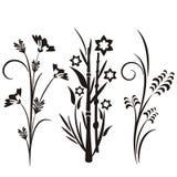 Japanische Blumenauslegungserie Lizenzfreies Stockfoto