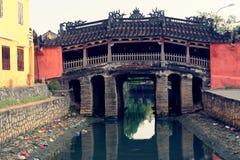 Japanische Brücke in Hoi lizenzfreie stockfotografie