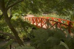 Japanische Brücke und Gärten Stockfoto