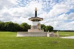 Japanische buddhistische Friedenspagode, Bewohner von Nippon Myohoji, Milton Keynes lizenzfreies stockbild
