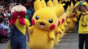 Japanische Charakter-Parade in Yokohama, Japan stock video