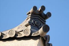 Japanische Dachspitze Stockbilder