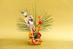 Japanische Dekoration des neuen Jahres Lizenzfreies Stockbild