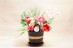 Japanische Feiertagsverzierung für neue Jahr-Tag Stockbilder