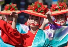 Japanische Festival-Tänzer Stockbild