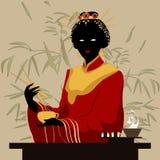 Japanische Frau stock abbildung
