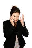 Japanische Frau frustriert Lizenzfreie Stockfotografie