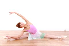 Japanische Frau tanzt Ballett Lizenzfreie Stockfotografie