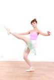 Japanische Frau tanzt Ballett Lizenzfreie Stockbilder