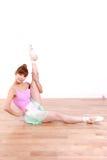 Japanische Frau tanzt Ballett Stockbilder