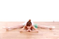 Japanische Frau tanzt Ballett Stockfoto