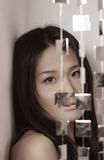 Japanische Frauenaufstellung Lizenzfreies Stockbild