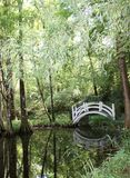 Japanische Garten-Brücke Stockbild