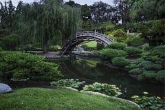 Japanische Garten-Brücke Lizenzfreies Stockfoto