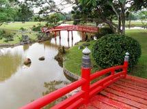 Japanische Gartenlandschaftsgestaltung stockbild