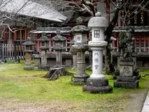Japanische Gartenstatuen Stockfotografie