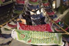 Japanische glückliche Fische in einem Tempel Stockbilder