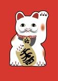 Japanische glückliche Katze Lizenzfreie Stockfotos
