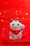 Japanische glückliche Katze Lizenzfreies Stockbild