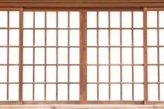 Japanische gleitende Papiertür stockbilder