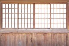 Japanische gleitende Papiertür Stockfotos