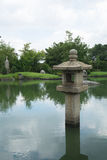 Japanische Granitlaterne version5 Stockfotos
