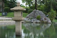 Japanische Granitlaterne version4 Stockbild