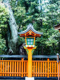 Japanische hölzerne Laterne Stockfotografie