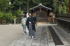Japanische Heirat-Kleidung stockbild