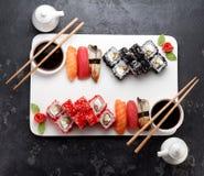 Japanische Küche Asiatische Nahrung Sushi Lizenzfreie Stockbilder