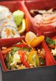 Japanische Küche - Bento Mittagessen Stockbilder