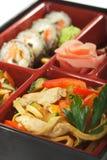 Japanische Küche - Bento Mittagessen Lizenzfreie Stockfotos