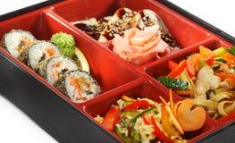 Japanische Küche - Bento Mittagessen Stockfotografie
