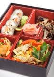 Japanische Küche - Bento Mittagessen Lizenzfreie Stockbilder